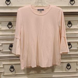 Like new! Peach soft cotton top with boho sleeves